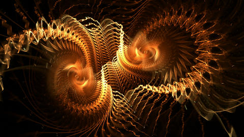Dynamic spirals Stock Video Footage