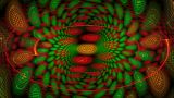 Red And Green Spiral stock footage