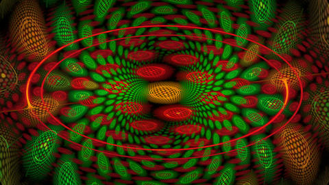 Red and green spiral Stock Video Footage