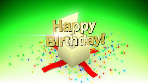 Happy birthday box Stock Video Footage