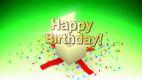 Happy birthday box Animation