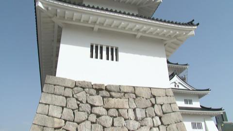 Toyama / Azumi Castle Tilt 2 富山 安住城 チルト Stock Video Footage