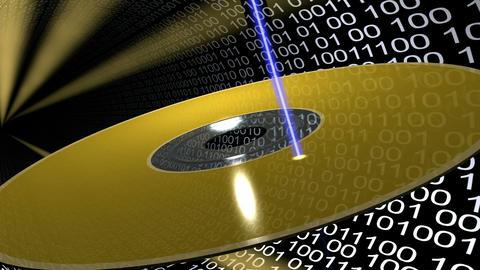 CD Writing. Loop. HD Stock Video Footage