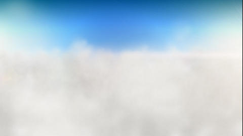 Over clouds loop Stock Video Footage