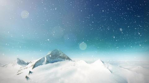 Snow mountain loop Stock Video Footage