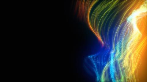 Glowing threads loop Stock Video Footage