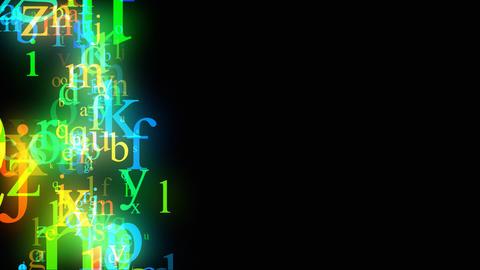 Alphabet on black loop Stock Video Footage