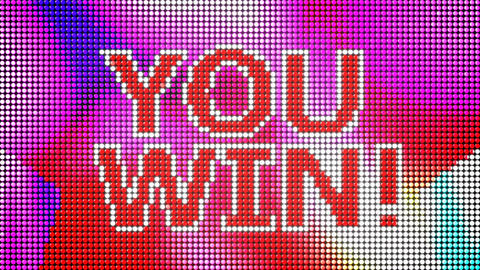 You win led screen loop Stock Video Footage