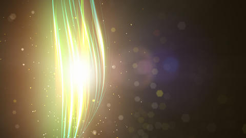 Particles and light loop Stock Video Footage