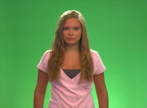 """Beautiful Teen Blonde Says, """"For real?"""" Stock Video Footage"""