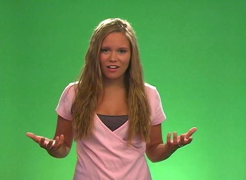 "Beautiful Teen Blonde Says, ""For real?"" Stock Video Footage"