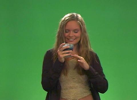 Beautiful Teen Blonde Gets Her Sugar Fix Stock Video Footage