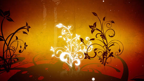 Vector flowers 4 loop Animation