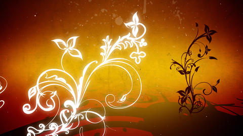 Vector flowers 4 loop Stock Video Footage