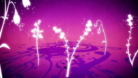 Vector flowers 6 loop Stock Video Footage