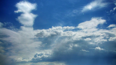 Clouds time lapse hdr Stock Video Footage