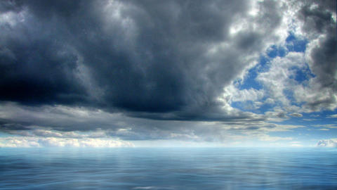 Sea paradise time lapse hdr Stock Video Footage