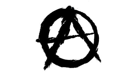 anarchy sign Stock Video Footage