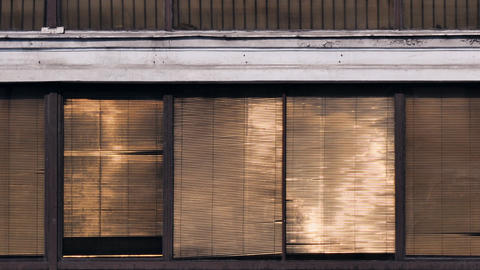 Horizontal blinds Stock Video Footage