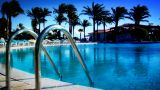 Pool In Paradise stock footage