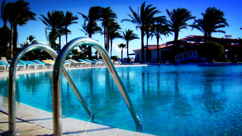 Pool in Paradise Stock Video Footage
