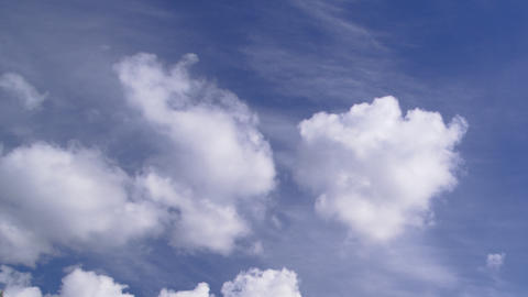 clouds and a blue sky: timelapse Stock Video Footage
