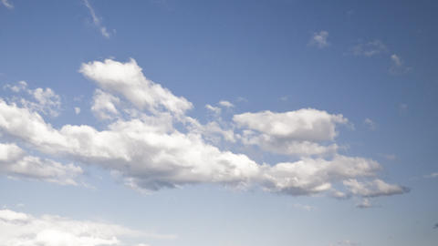 evening clouds: timelapse Stock Video Footage