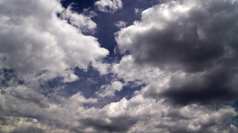clouds on a blue sky: timelapse Stock Video Footage