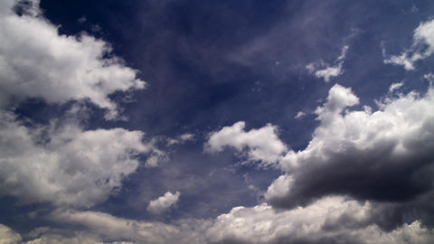 clouds on a blue sky: timelapse Footage