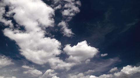 clouds on a beautiful day: timelapse Stock Video Footage