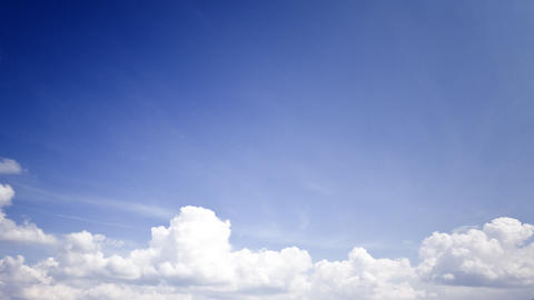 Stormclouds on a blue sky: timelapse Stock Video Footage