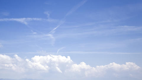 clouds and planes: timelapse Stock Video Footage