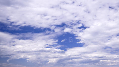 partly overcast but blue sky: timelapse Stock Video Footage