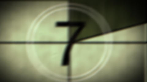 Grungy Countdown Clock stock footage