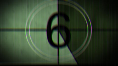 Grungy Countdown Clock Stock Video Footage