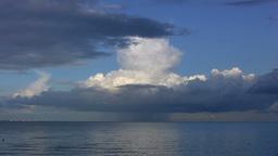 Single cell cumulonimbus cloud Stock Video Footage