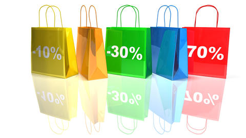 shopping bags 1 Stock Video Footage