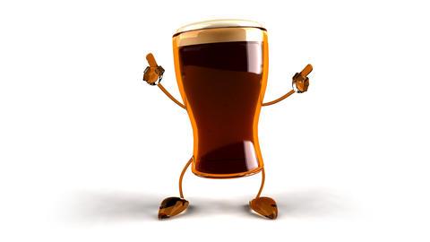beer dance 2 Stock Video Footage