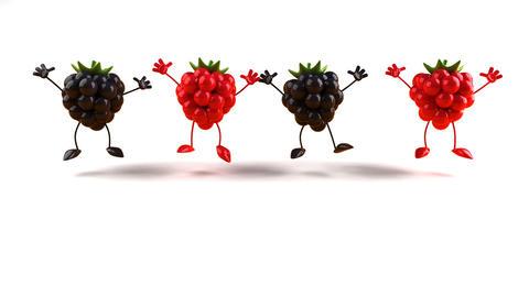 berries jump 1 Stock Video Footage