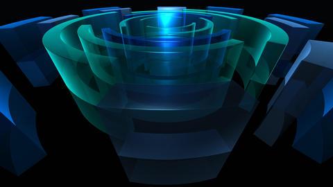 blue circles 2 HD Animation