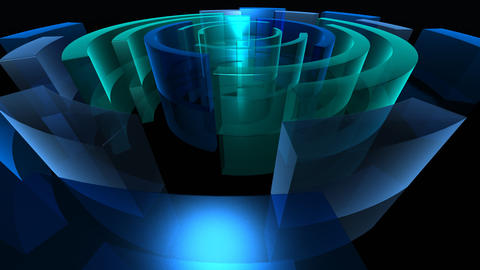 blue circles 2 HD Stock Video Footage