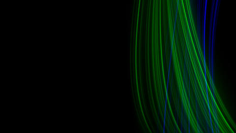 Looping animation of blue and green light rays Stock Video Footage
