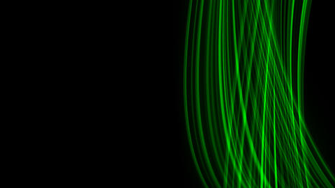 Looping animation of green light rays Stock Video Footage