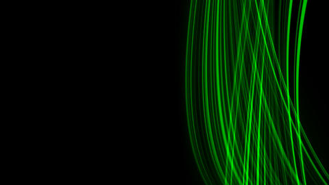 Looping animation of green light rays Animation