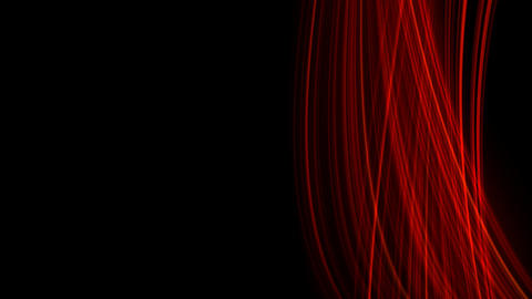 Looping animation of red light rays Stock Video Footage