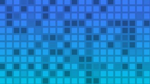 Looping animation of blue and aqua colored tiles change... Stock Video Footage