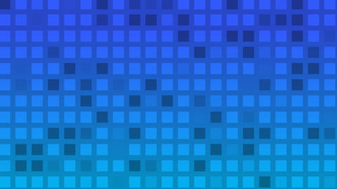 Looping animation of blue and aqua colored tiles change color and pattern Animation