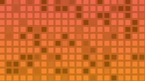 Looping animation of red and yellow colored tiles change color and pattern Animation