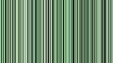 Looping animation of black, gray, white and green vertical lines oscillating Animation