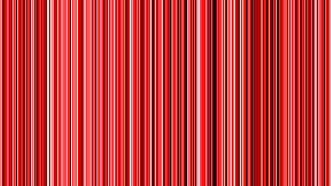 Looping animation of black, red and white vertical lines oscillating Animation